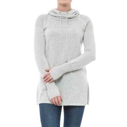 Artisan NY Textured Funnel-Neck Sweater (For Women) in Silver Heather - Closeouts
