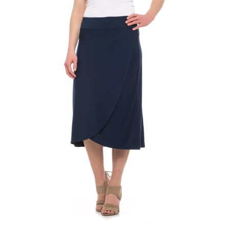 7ecbd15d2d7 Artisan NY Tulip Midi Stretch Skirt (For Women) in Navy Nights - Overstock