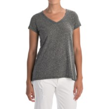 Artisan NY V-Neck T-Shirt - Cotton Blend, Short Sleeve (For Women) in Grey - Closeouts