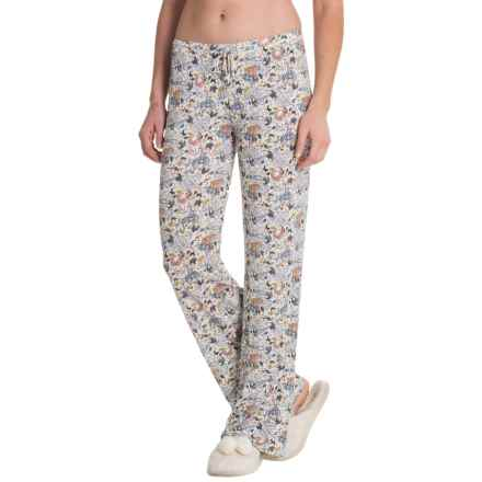 Artisan NY Woodland Animals Lounge Pants (For Women) in White - Closeouts