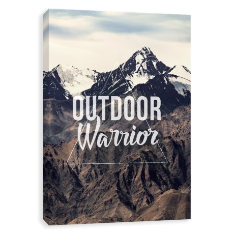"""Artissimo Designs """"Outdoor Warrior"""" Canvas Print - 18x24"""" in See Photo"""