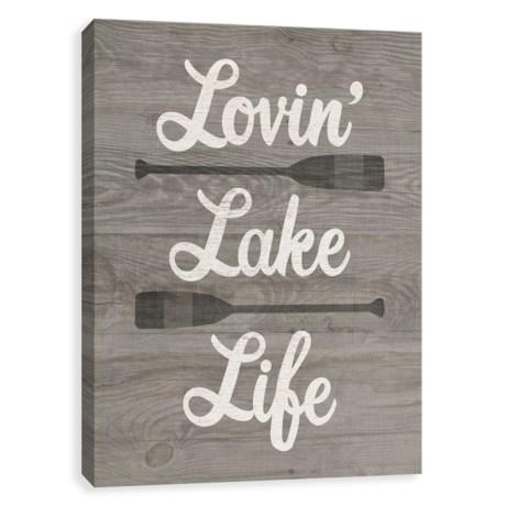 "Artissimo Designs 11x14"" Canvas ""Lovin' Lake Life"" Print in See Photo"