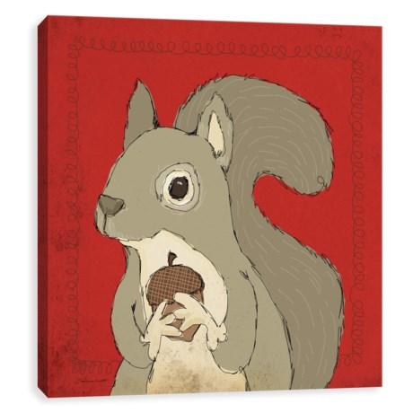 "Artissimo Designs 12x12"" Canvas Kids Squirrel Print in Asst"