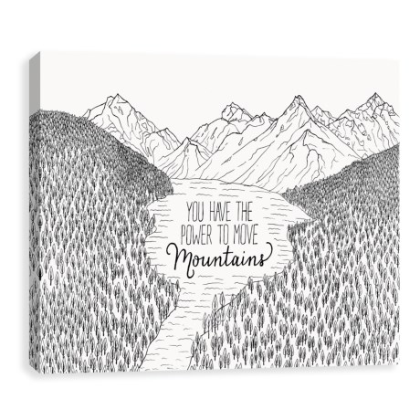 """Artissimo Designs 14x11"""" Canvas """"Move Mountains"""" Print in See Photo"""