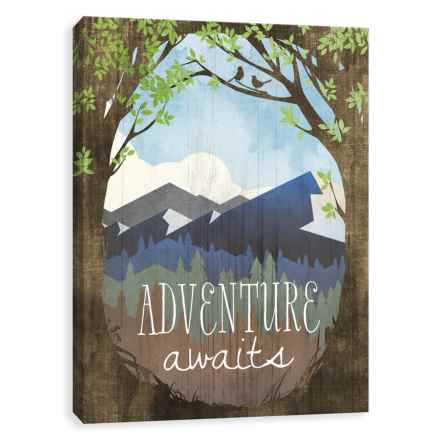 """Artissimo Designs 16x20"""" Canvas """"Adventure Awaits"""" Print in See Photo - Closeouts"""
