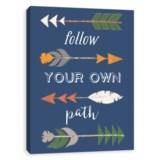 "Artissimo Designs 16x20"" Canvas ""Follow Your Own Path"" Arrows Print"