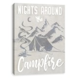 "Artissimo Designs 16x20"" Canvas ""Nights Around the Campfire"" Print"