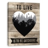 """Artissimo Designs 16x20"""" Canvas """"To Live is to be Outdoors"""" Print"""