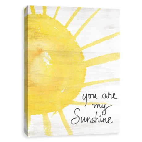 "Artissimo Designs 16x20"" Canvas ""You Are My Sunshine"" Print in See Photo"