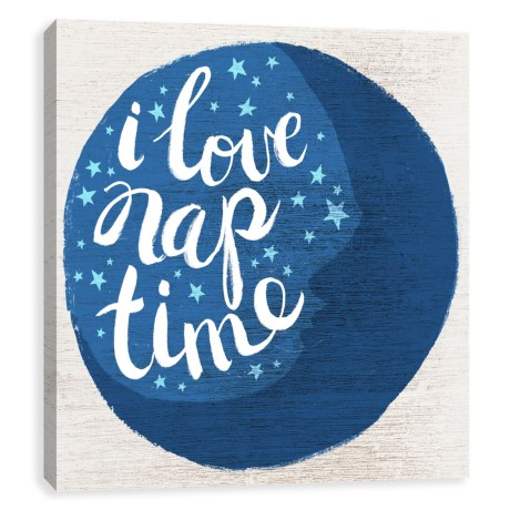 "Artissimo Designs 18x18"" ""I Love Nap Time"" Kids Print in See Photo"