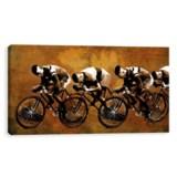 "Artissimo Designs 24x12"" Canvas Racing Past Print"