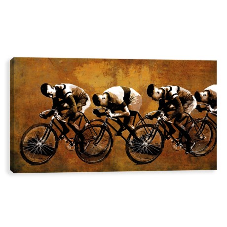 "Artissimo Designs 24x12"" Canvas Racing Past Print in See Photo"