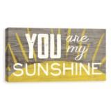 "Artissimo Designs 30x15"" Canvas ""You Are My Sunshine"" Print"