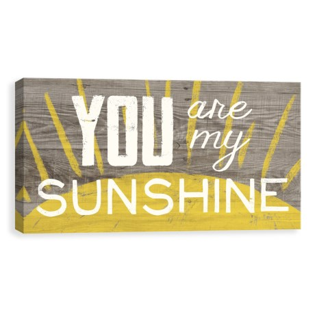 "Artissimo Designs 30x15"" Canvas ""You Are My Sunshine"" Print in See Photo"