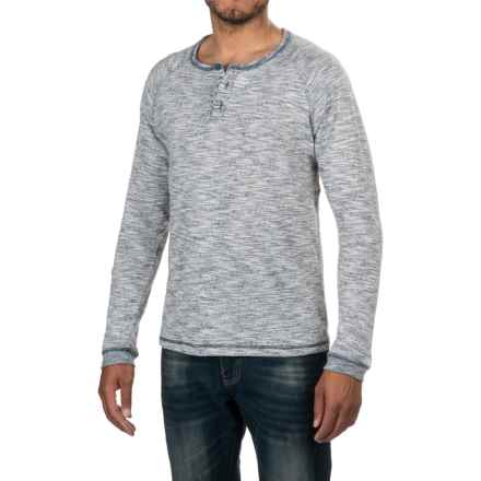 Artistry in Motion Henley Shirt - Long Sleeve (For Men) in Navy/Off White - Closeouts