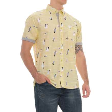 Artistry In Motion Poplin Woven Shirt - Short Sleeve (For Men) in Pale Yellow - Overstock