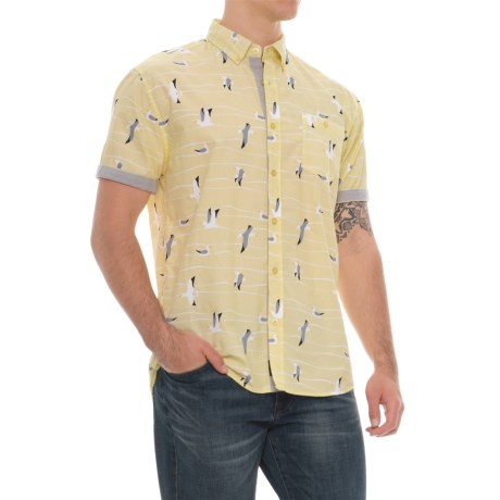 Artistry In Motion Poplin Woven Shirt - Short Sleeve (For Men) in Pale Yellow