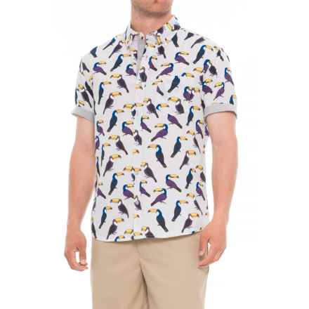 Artistry In Motion Printed Chambray Shirt - Short Sleeve (For Men) in Grey - Overstock