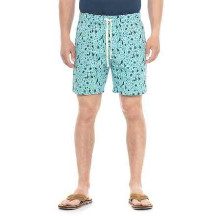 Artistry In Motion Printed Walking Shorts (For Men) in Aqua - Overstock