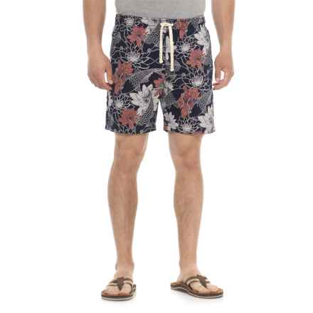 Artistry In Motion Printed Walking Shorts (For Men) in Navy/Koi - Overstock