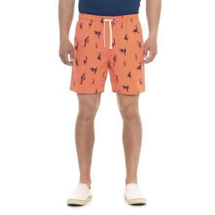 Artistry In Motion Printed Walking Shorts (For Men) in Salmon/Sharks - Overstock