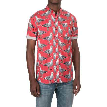 Artistry in Motion Seagulls Poplin Shirt - Short Sleeve (For Men) in Faded Red - Closeouts