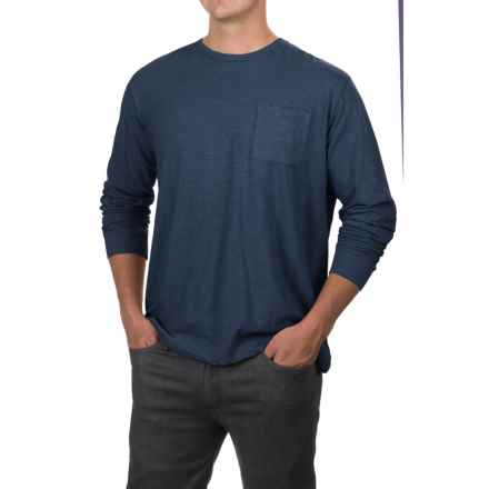Artistry in Motion Slub Knit T-Shirt - Long Sleeve (For Men) in Navy - Closeouts