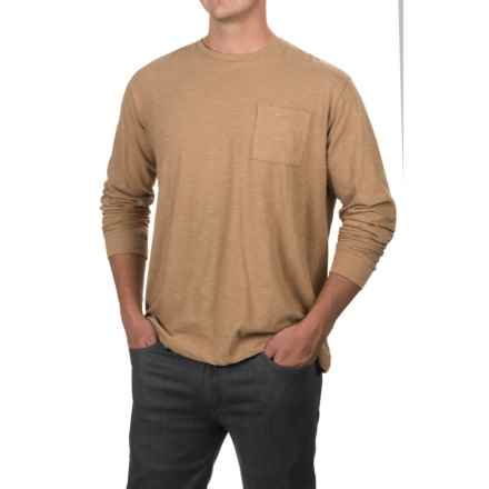 Artistry in Motion Slub Knit T-Shirt - Long Sleeve (For Men) in Tobacco - Closeouts