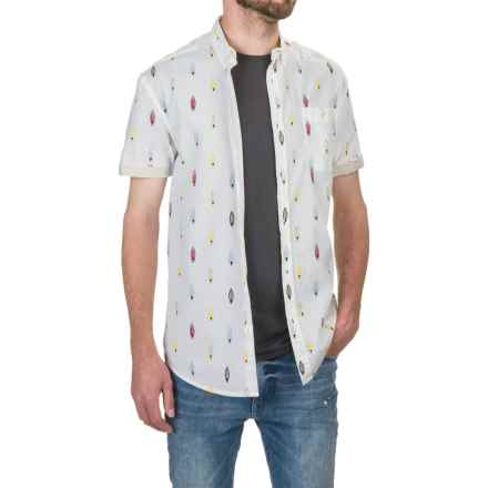 Artistry in Motion Surfboard Poplin Shirt - Short Sleeve (For Men) in White - Closeouts
