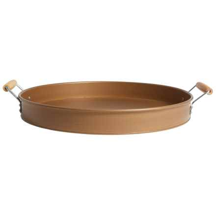"""Artland Metal Party Tray - 16"""" in Copper - Overstock"""