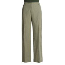 Asara Checklette Pants - Washed Cotton (For Women) in Multi - Closeouts