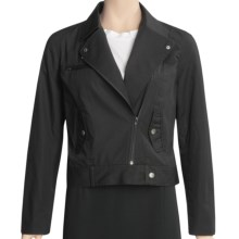 Asara Poplin Zip Jacket - Garment-Washed Cotton (For Women) in Black - Closeouts