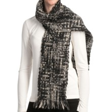Asian Eye Alyeska Scarf - Wool (For Women) in Black Tweed - Closeouts