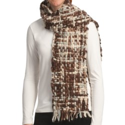 Asian Eye Alyeska Scarf - Wool (For Women) in Brown Tweed