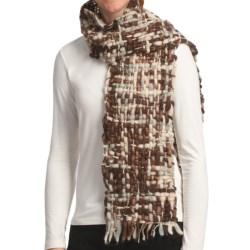Asian Eye Alyeska Scarf - Wool (For Women) in Brown Tweed