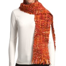 Asian Eye Alyeska Scarf - Wool (For Women) in Orange Tweed - Closeouts