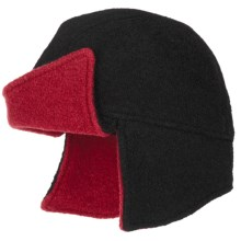 Asian Eye Amelia Flyer Cap - Boiled Wool (For Women) in Black/Red - Closeouts