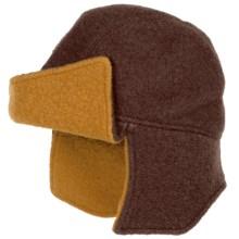 Asian Eye Amelia Flyer Cap - Boiled Wool (For Women) in Stone/Mustard - Closeouts