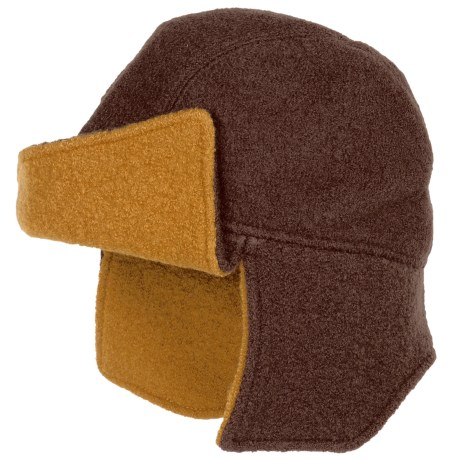 Asian Eye Amelia Flyer Cap - Boiled Wool (For Women) in Stone/Mustard