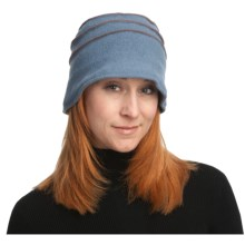 Asian Eye Anne Bucket Hat - Boiled Wool, Top Stitching (For Women) in Blue/Mulberry - Closeouts