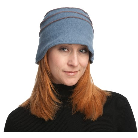 Asian Eye Anne Bucket Hat - Boiled Wool, Top Stitching (For Women) in Blue/Mulberry