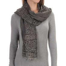 Asian Eye Artemis Hieroglyphics Wool Scarf (For Women) in Gray - Closeouts