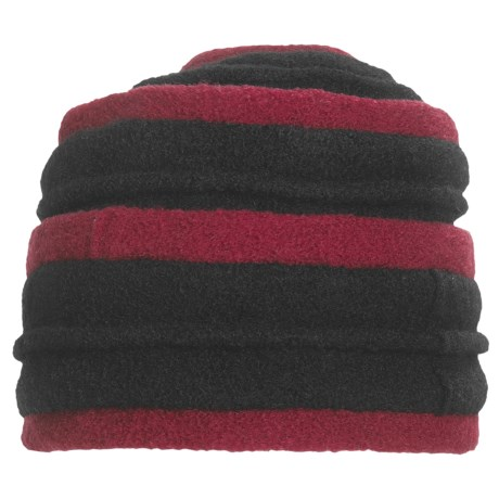 Asian Eye Coraline Turban Hat - Boiled Wool (For Women) in Red/Black