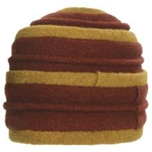 Asian Eye Coraline Turban Hat - Boiled Wool (For Women) in Rust/Mustard - Closeouts