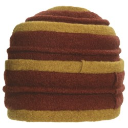 Asian Eye Coraline Turban Hat - Boiled Wool (For Women) in Rust/Mustard