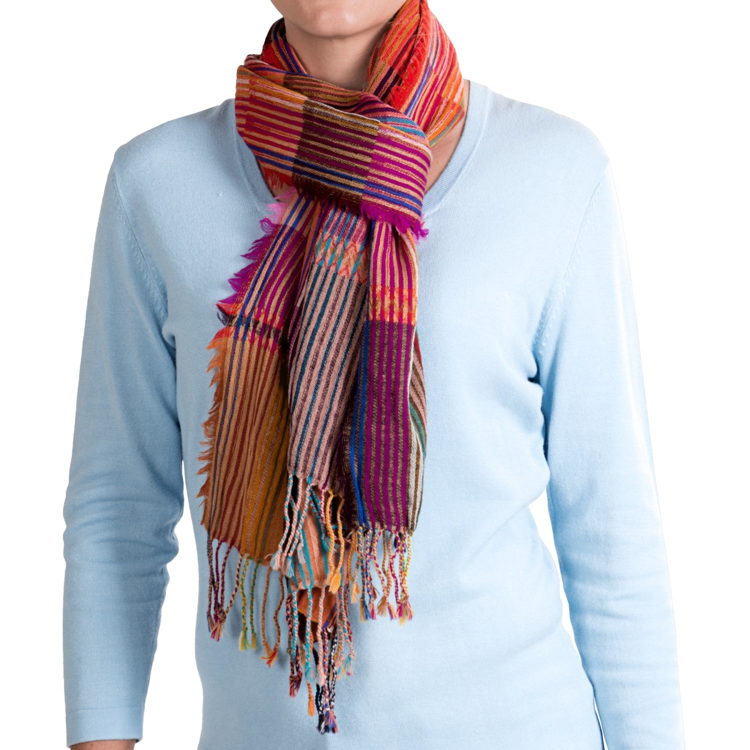 asian eye crayon striped scarf wool for save 48