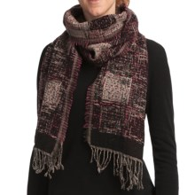 Asian Eye Dapper Scarf - Reversible, Wool (For Women) in Rose/Brown - Closeouts