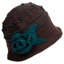 Asian Eye Elizabeth Bucket Hat - Boiled Wool (For Women) in Brown/Teal - Closeouts