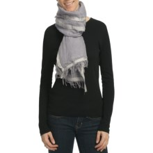 Asian Eye Fairweather Scarf - Linen-Cotton-Silk (For Women) in Gray - Closeouts