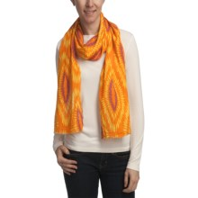 Asian Eye Fiji Scarf (For Women) in Orange - Closeouts